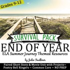 End of Year for Secondary ELA - NO PREP Summer-Themed, Cre