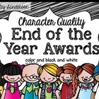 End of the Year Awards {character qualities} EDITABLE