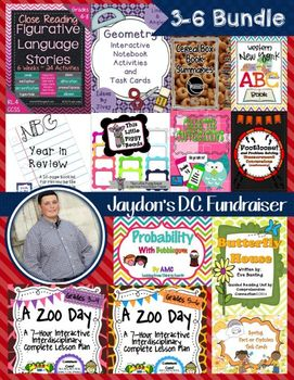 End of the Year MEGA Bundle for Grades 3-6: Jaydon's Fundraiser