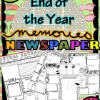 End of the Year Memory Newspaper- FUN!
