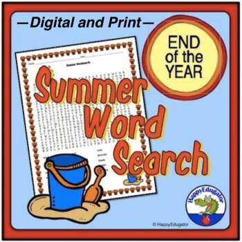 End of the Year - Summer Word Search