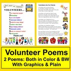 End of the Year Volunteer Thank You Poem-Color & B/W