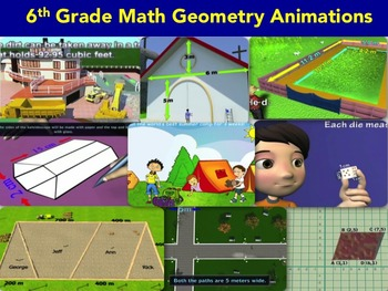 End of Year review of geometry concepts-{common core math activities bundle }