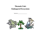 Endangered Ecosystems Thematic Unit