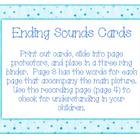 Ending Sounds Picture Cards