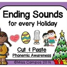 Ending Sounds with Holiday Vocabulary