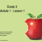EngageNY - 3rd Grade Module 1, Lesson 1 PowerPoint