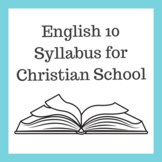 English 10 Syllabus for Christian School