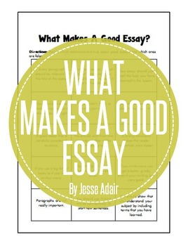 what makes a good teacher essay answers