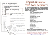 English Grammar Potpourri Test Pack