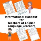 English Language Learners - What Teachers Need to Know