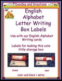 English Letter Writing Card Box Labels