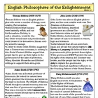English Philosophers of the Enlightenment