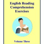 English Reading Comprehension Exercises, Volume Three Acti