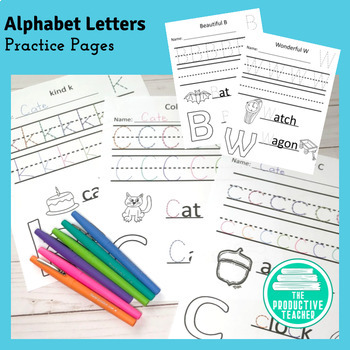 Entire Alphabet - Letter Practice - Tracing and Writing -