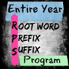 Entire year of Root Word, Prefix, Suffix Practice (With an