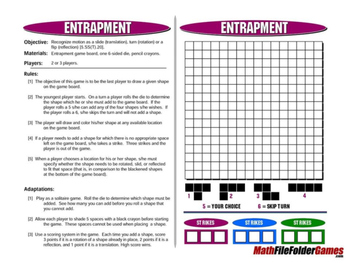Entrapment: Transformation Math Games