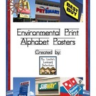 Environmental Print Alphabet Posters (Nautical/Sailor Theme)