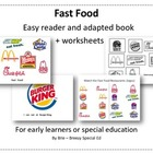 Environmental Print: Fast Food adapted book & worksheets {