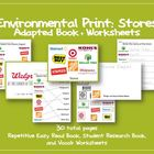 Environmental Print: Store - Adapted Book and Worksheets {