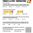 Envision Topics 3 & 4 Subtraction Test
