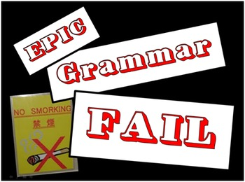 Epic Grammar FAIL - Fun Test Prep Review Game