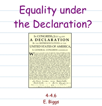 Equality and 3/5 Compromise - Smartboard Lesson