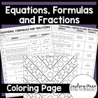 Equations, Formulas and Fractions Coloring Page