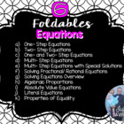 Equations & Inequalities (Foldable Bundle)