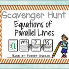 Equations of Parallel Lines Scavenger Hunt