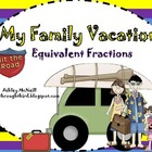 Equivalent Fractions ~ My Family Vacation Board Game...FREEBIE