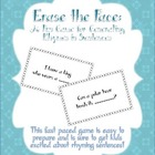 Erase the Face: A Fun Rhyming Sentences Game!