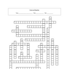 Erosion and Deposition Crossword Puzzle with key