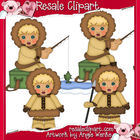 Eskimos Boys Clipart-Blonde Hair
