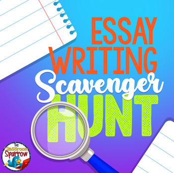 Essay Writing Scavenger Hunt (Learn how to write a five paragraph essay!)