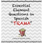 Essential Element questions in Spanish for Plot
