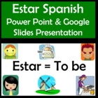 Estar Power Point in Spanish (40 slides) with Adjectives a