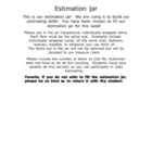 Estimation and Data Jar
