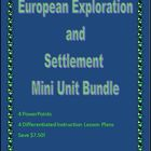 European Exploration and Settlement Mini Unit Bundle