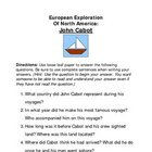 European Explorers / European Exploration of North America