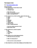 European Union worksheet