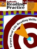 Evan Moor Grades 1-3 Authentic Reading Practice Teacher Resource