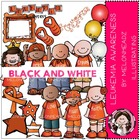 Evelyn's Leukemia Awareness bundle by Melonheadz black and white