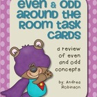 Even & Odd Around the Room Task Cards