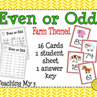 Even or Odd: Farm Theme