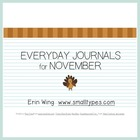 Everyday Journals for November