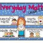Everyday Math 2nd grade Lesson 2.2 Review of Easy Addition Facts