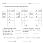 Everyday Math, Grade 3, Unit 4 Review Worksheet #2