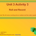Everyday Math Kindergarten 3.3 Roll and Record SmartBoard