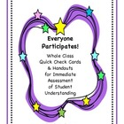 Everyone Participates! Assessment - Whole Class Quick Chec